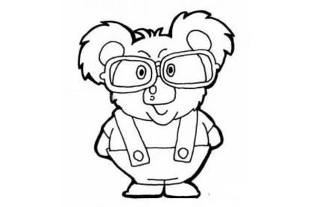 戴眼镜的考拉简笔画
