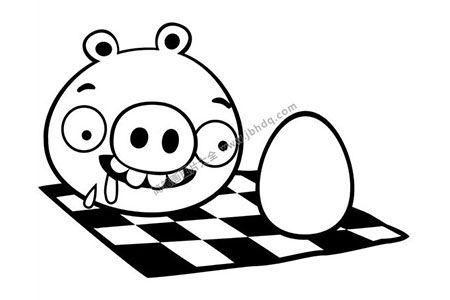6张肥猪偷蛋的简笔画图片