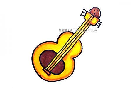 可爱的吉他简笔画教程