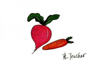 怎么画萝卜