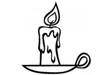 生活用品简笔画 蜡烛简笔画图片