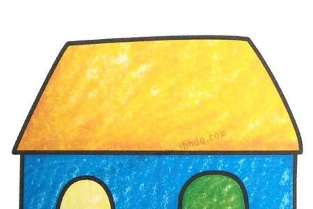 幼儿学画房子5