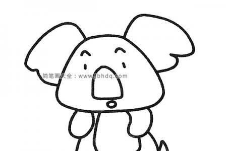 一组可爱的考拉简笔画图片