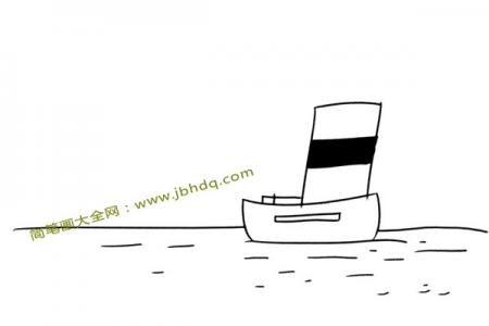 平静海面上的帆船