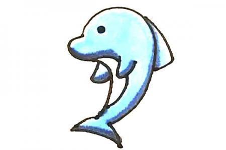 儿童轻松学画海豚