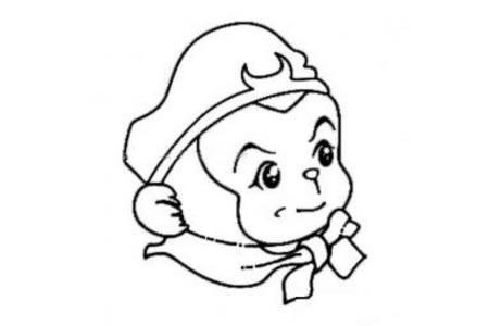 卡通孙悟空头像简笔画