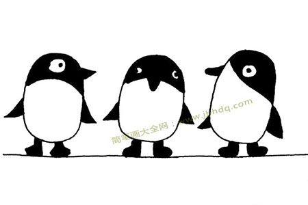 企鹅兄弟简笔画图片