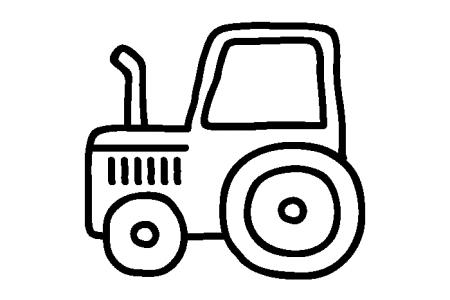 5张拖拉机简笔画图片