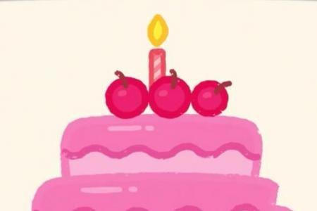 神奇简笔画 生日蛋糕