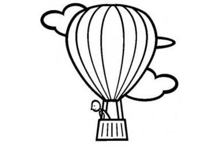 交通工具简笔画 关于热气球的简笔画图片
