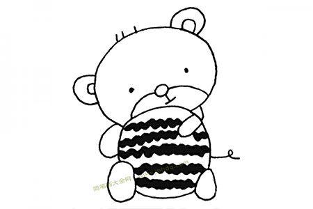 小熊抱着西瓜