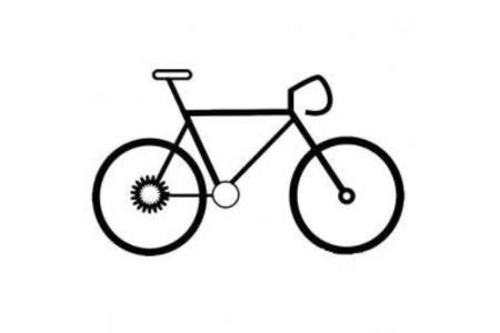 一组自行车的简笔画图片