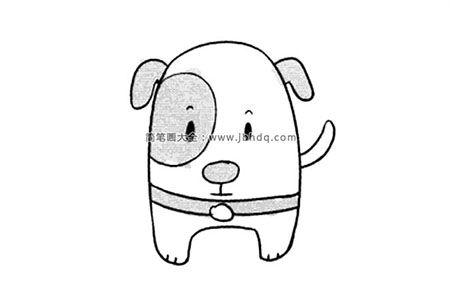 超可爱小狗简笔画图片