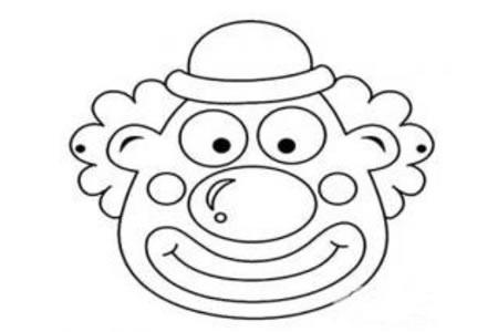 小丑脸谱简笔画图片