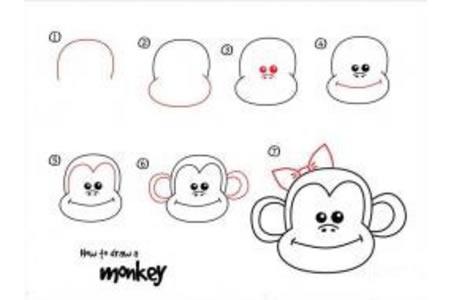 如何画猴子 猴子简笔画教程