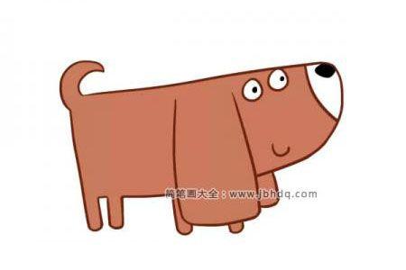 黑黑的小狗简笔画