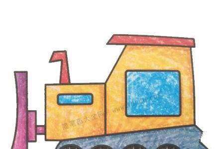 幼儿学画推土机