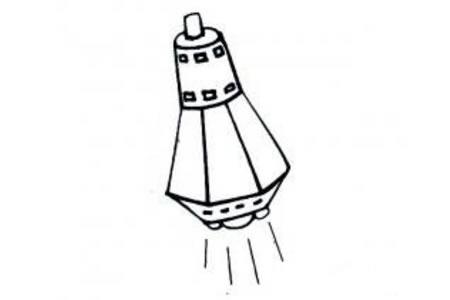 载人宇宙飞船简笔画图片