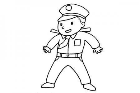警察叔叔简笔画怎么画