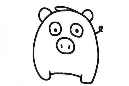 六张可爱的小猪简笔画图片