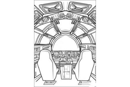 星球大战 宇宙飞船简笔画