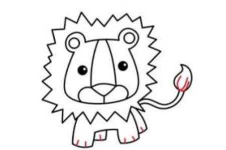 简笔画教程 狮子简笔画步骤图