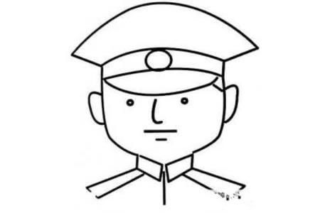 警察头像简笔画