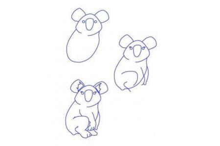 简笔画教程 考拉的简单画法