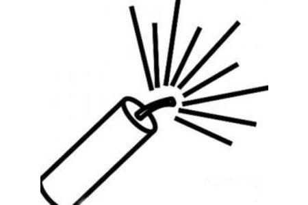一颗鞭炮简笔画图片