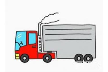 大卡车简笔画画法