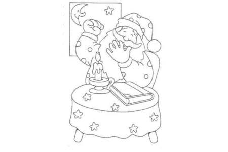打哈欠的圣诞老人
