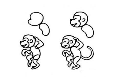 简单的猴子简笔画步骤