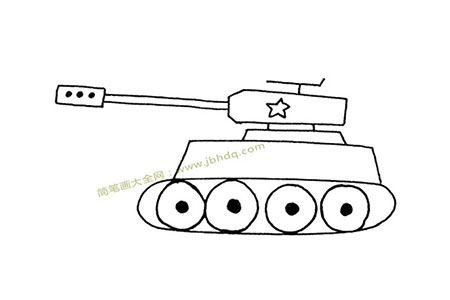 一组漂亮的坦克简笔画图片