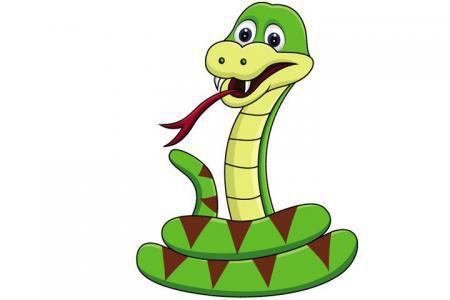5张卡通青蛇的简笔画图片