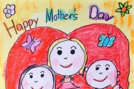 和妈妈在一起的美好时光母亲节画画图片分享