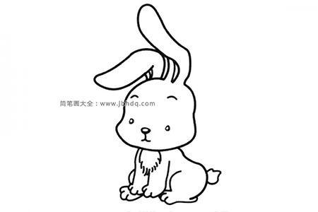 萌萌哒小兔子简笔画图片