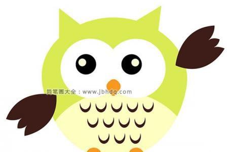 绿色卡通猫头鹰