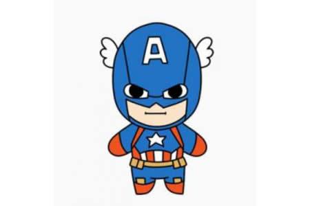 美国超人简笔画画法