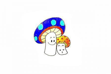 小蘑菇怎么画