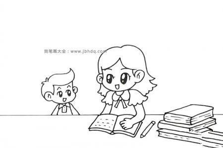 正在批改作文的老师