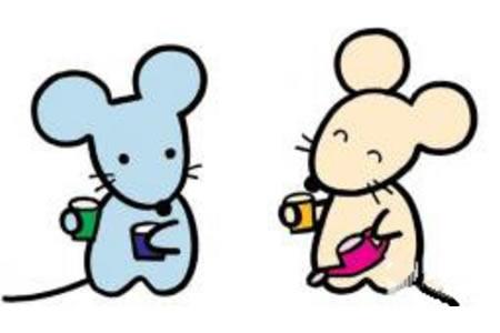 两只小老鼠简笔画
