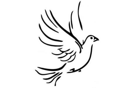 漂亮的和平鸽剪影图片