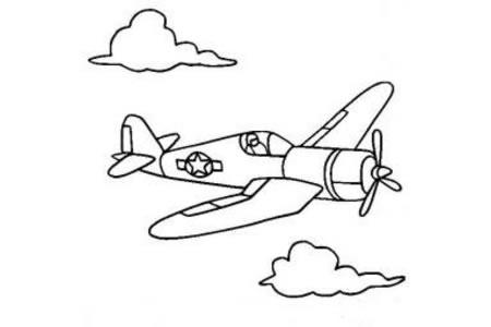 战斗机飞机简笔画图片