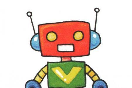 简单的机器人简笔画