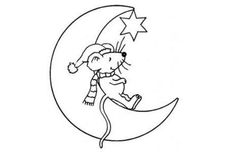老鼠卡通形象简笔画图片