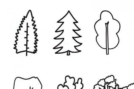 几种常见的大树简笔画的画法