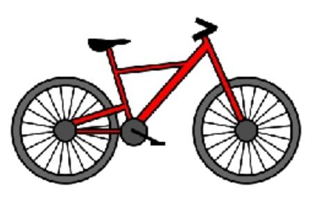 自行车彩色简笔画
