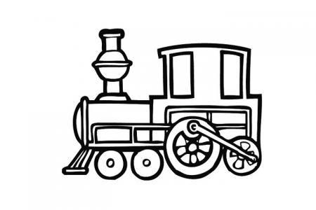 简单好画的蒸汽火车简笔画