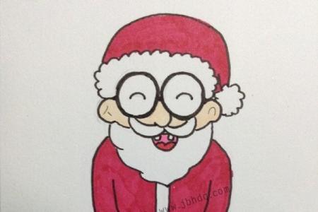 慈祥的圣诞老人简笔画画法