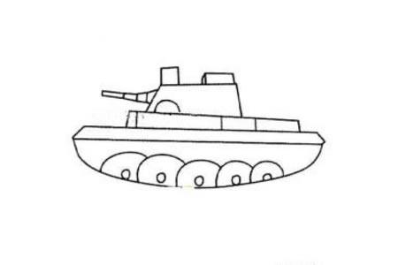 坦克简笔画图片
